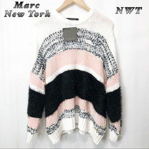 NWT-Marc NewYork Black white Blush sweater XL